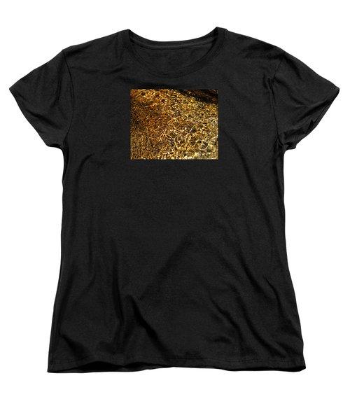 Women's T-Shirt (Standard Cut) featuring the photograph Texture Of A Stream by Lynda Lehmann