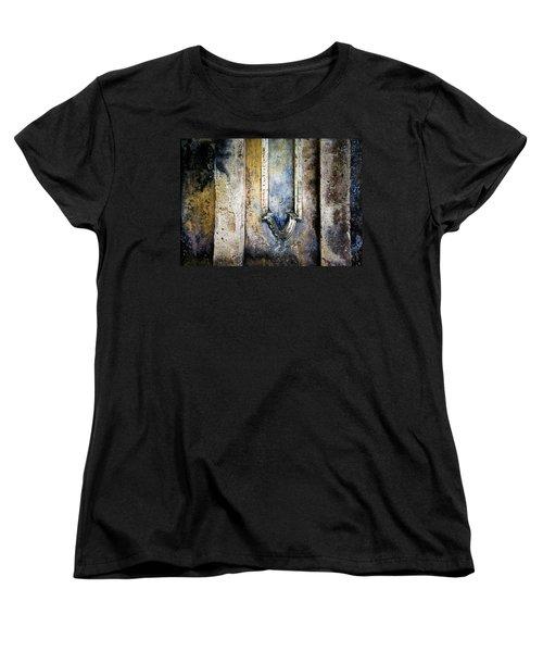 Women's T-Shirt (Standard Cut) featuring the photograph Textured Wall by Marion McCristall