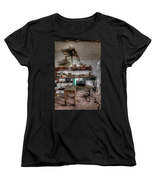 Women's T-Shirt (Standard Cut) featuring the digital art Th Mad Scientist  by Nathan Wright