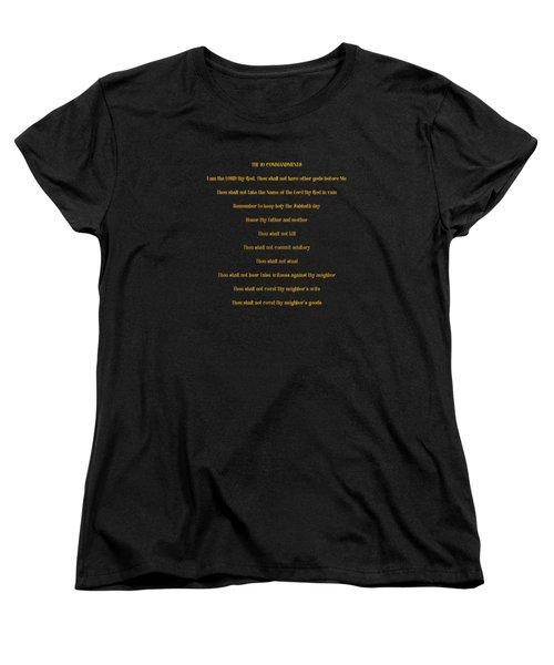 The 10 Commandments Women's T-Shirt (Standard Cut) by Rose Santuci-Sofranko
