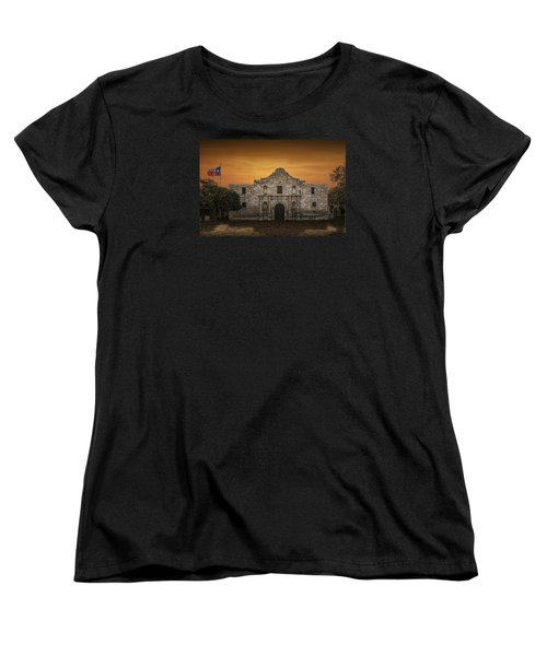 The Alamo Mission In San Antonio Women's T-Shirt (Standard Cut) by Randall Nyhof