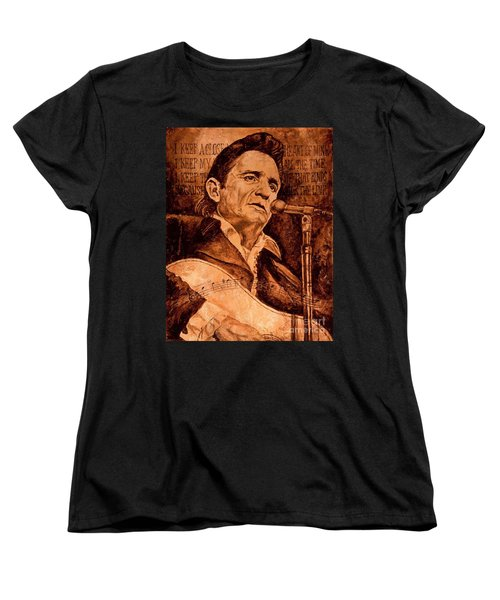Women's T-Shirt (Standard Cut) featuring the painting The American Legend by Igor Postash