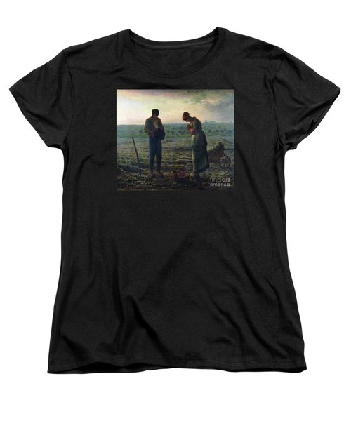 The Angelus Women's T-Shirt (Standard Cut) by Jean-Francois Millet