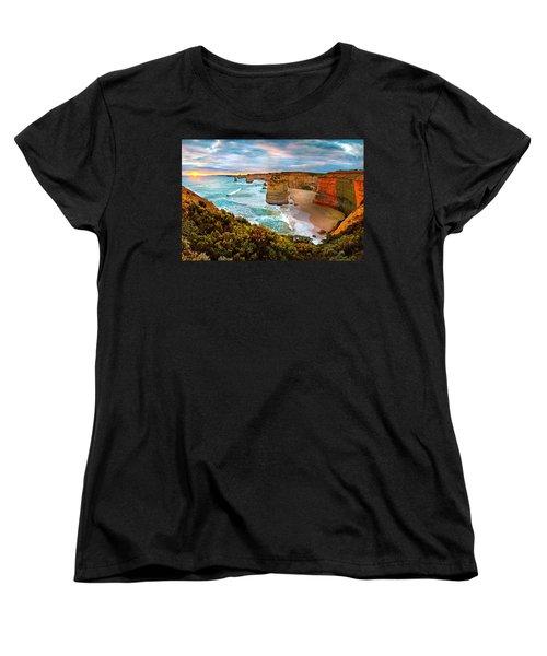 The Apostles Sunset Women's T-Shirt (Standard Cut) by Az Jackson