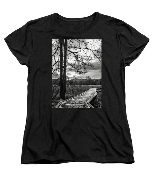 The Appalachian Trail Women's T-Shirt (Standard Cut) by Eduard Moldoveanu