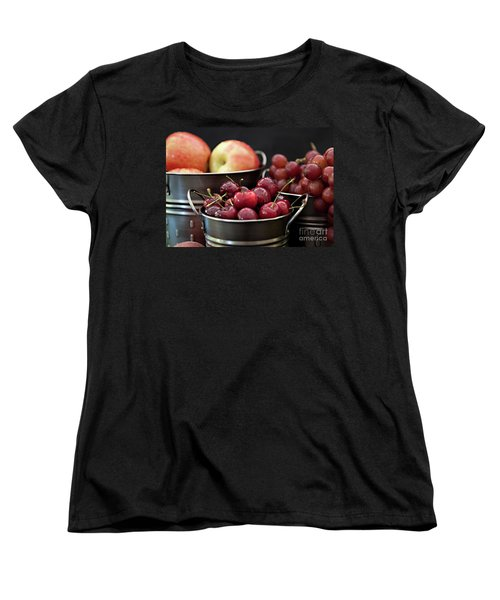 Women's T-Shirt (Standard Cut) featuring the photograph The Beauty Of Fresh Fruit by Sherry Hallemeier