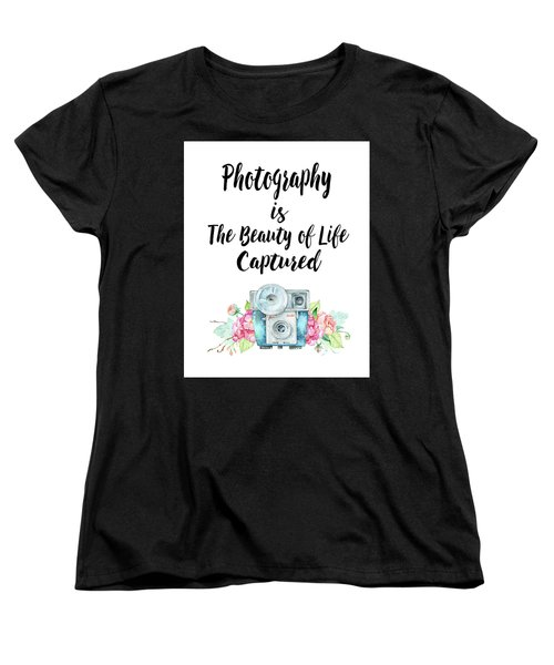 Women's T-Shirt (Standard Cut) featuring the digital art The Beauty Of Life by Colleen Taylor