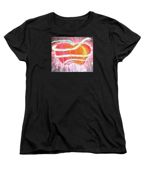 The Bleeding Heart Of The Illuminated Forbidden Fruit Women's T-Shirt (Standard Cut) by Talisa Hartley