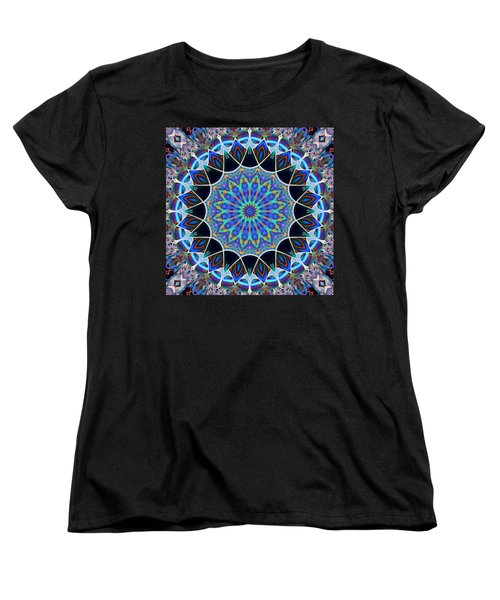 Women's T-Shirt (Standard Cut) featuring the digital art The Blue Collective 09 by Wendy J St Christopher