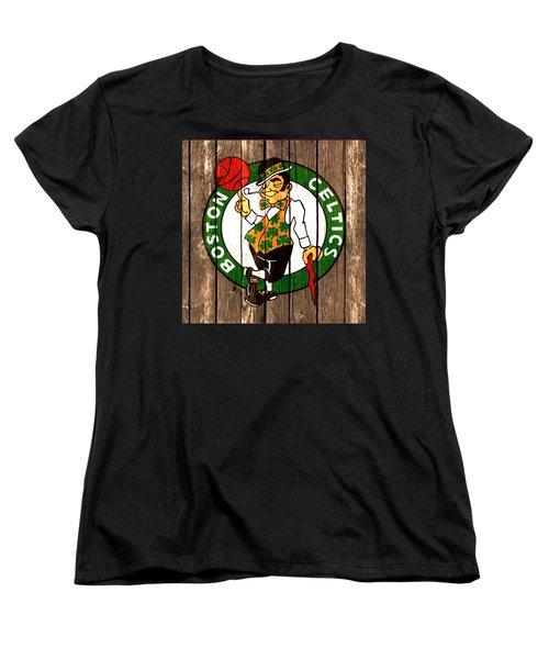 The Boston Celtics 2a Women's T-Shirt (Standard Cut) by Brian Reaves