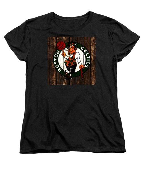 The Boston Celtics 2d Women's T-Shirt (Standard Cut) by Brian Reaves
