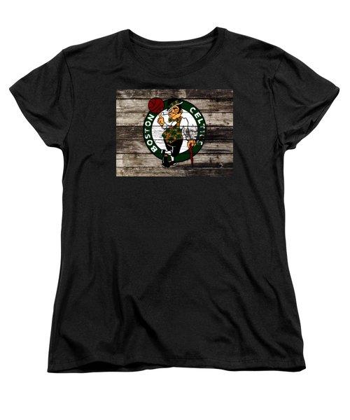 The Boston Celtics W10 Women's T-Shirt (Standard Cut) by Brian Reaves