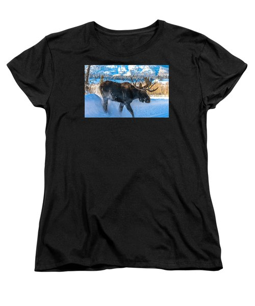 The Bulldozer Women's T-Shirt (Standard Cut) by Yeates Photography
