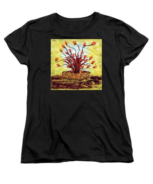 Women's T-Shirt (Standard Cut) featuring the painting The Burning Bush by J R Seymour