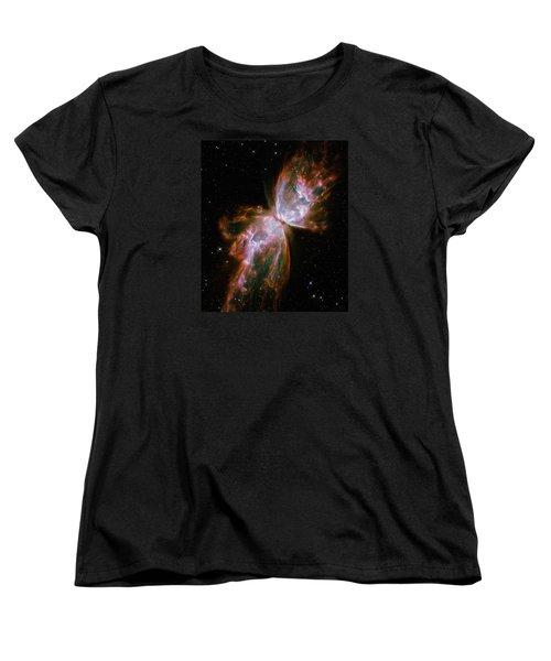 The Butterfly Nebula  Women's T-Shirt (Standard Cut) by Hubble Space Telescope