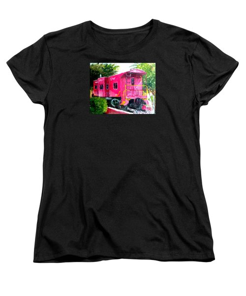 The Caboose Women's T-Shirt (Standard Cut) by Jim Phillips