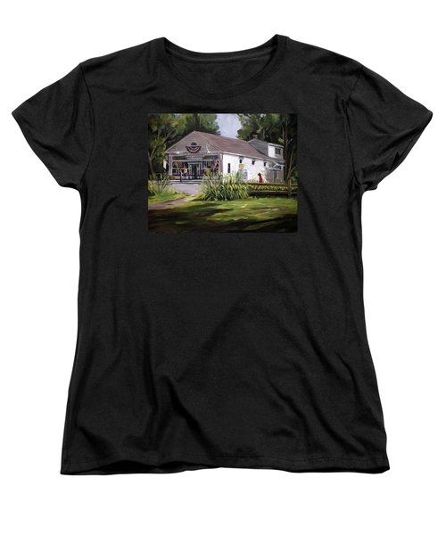 Women's T-Shirt (Standard Cut) featuring the painting The Country Store by Nancy Griswold