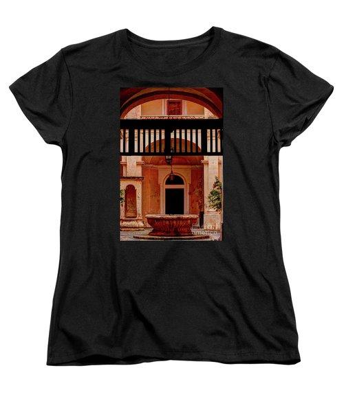 The Court Yard Malta Women's T-Shirt (Standard Cut) by Tom Prendergast