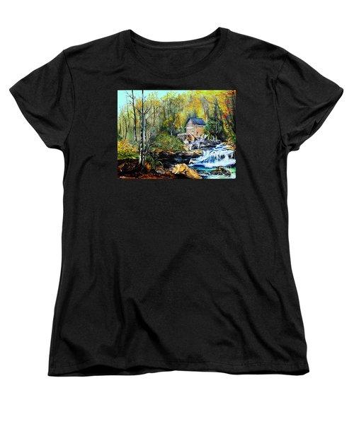 Glade Creek Women's T-Shirt (Standard Cut) by Farzali Babekhan