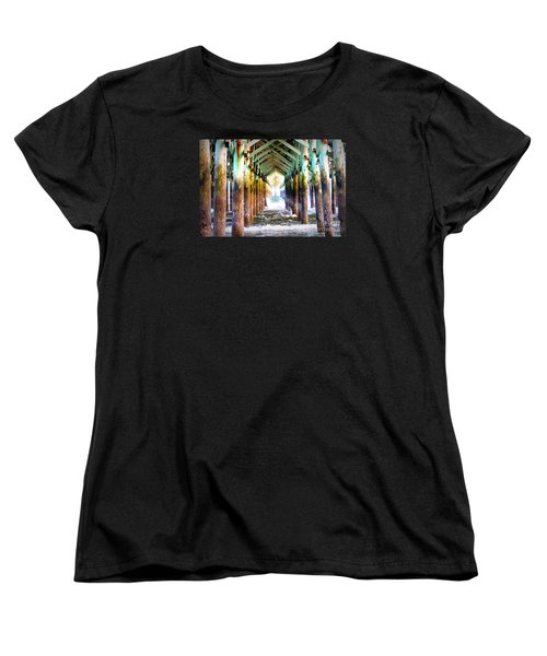 Women's T-Shirt (Standard Cut) featuring the photograph The Cross Before Us by Shelia Kempf