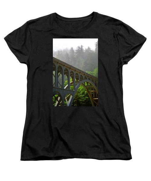The Crossing Women's T-Shirt (Standard Cut) by Laddie Halupa