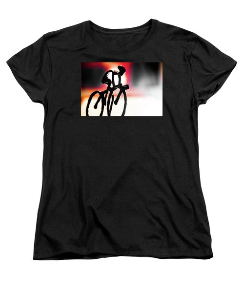 Women's T-Shirt (Standard Cut) featuring the photograph The Cycling Profile  by David Sutton