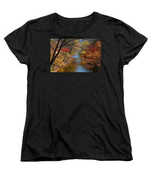 The Dan River Women's T-Shirt (Standard Cut) by Kathryn Meyer