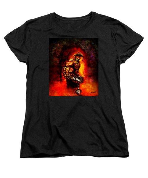 Women's T-Shirt (Standard Cut) featuring the digital art The Devil's Henchman by Kim Gauge
