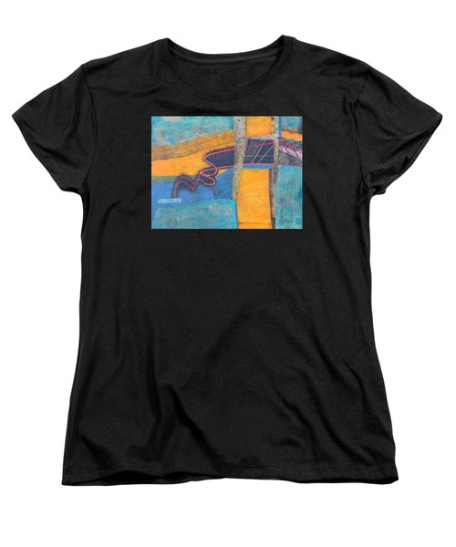 Women's T-Shirt (Standard Cut) featuring the mixed media The Digital Age by Nancy Jolley