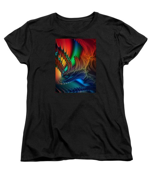 Women's T-Shirt (Standard Cut) featuring the digital art The Dragon's Den by Kathy Kelly