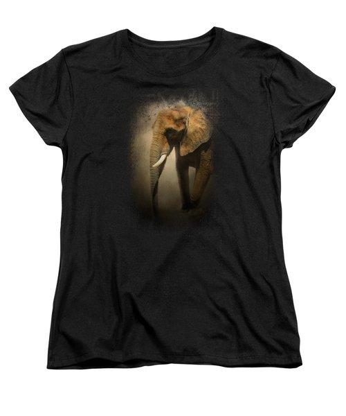 The Elephant Emerges Women's T-Shirt (Standard Cut) by Jai Johnson