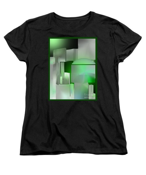 The Emerald City Women's T-Shirt (Standard Cut) by John Krakora