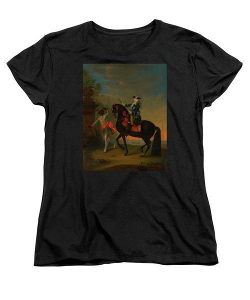 Women's T-Shirt (Standard Cut) featuring the painting The Empress Elizabeth Of Russia by Georg Grooth