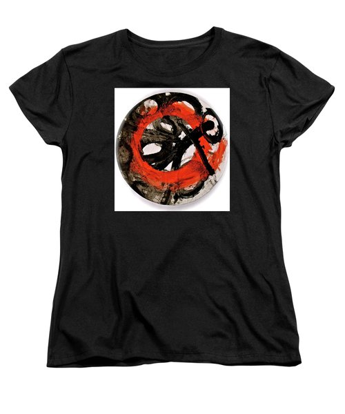 Women's T-Shirt (Standard Cut) featuring the painting The Escape Velocity Of Zen-or Metaphysics At A Glance by Cliff Spohn