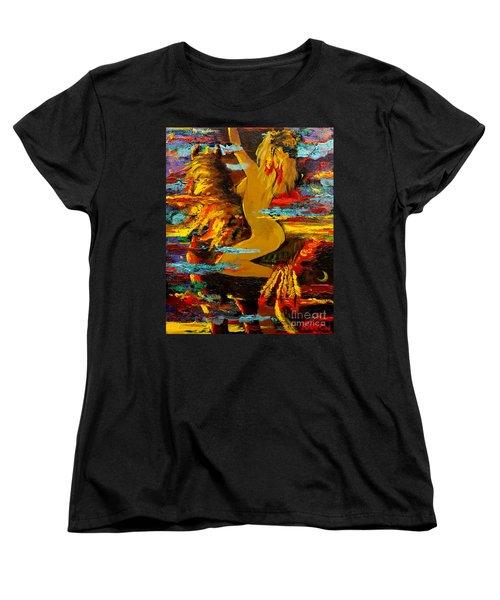 The Eternal Sea - Self Portrait Women's T-Shirt (Standard Cut) by Karon Melillo DeVega