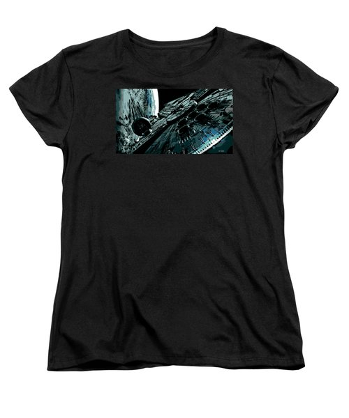 the Falcon Women's T-Shirt (Standard Cut) by George Pedro