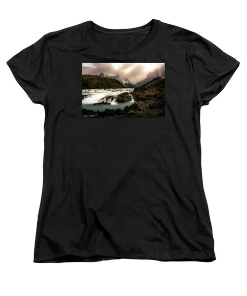 Women's T-Shirt (Standard Cut) featuring the photograph The Falls by Andrew Matwijec