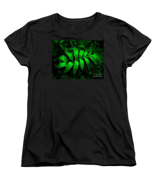 Women's T-Shirt (Standard Cut) featuring the photograph The Fern by Elfriede Fulda