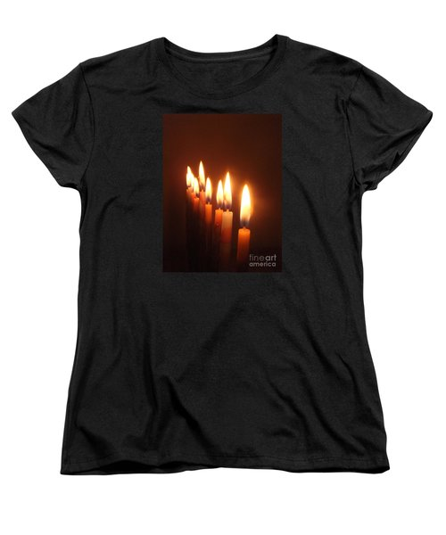 Women's T-Shirt (Standard Cut) featuring the photograph The Festival Of Lights by Annemeet Hasidi- van der Leij