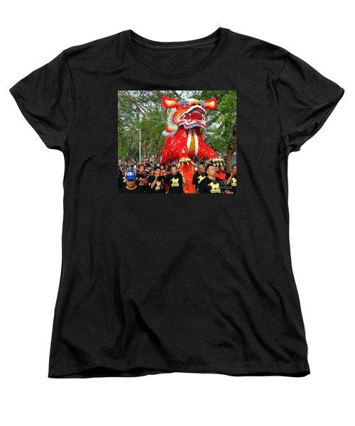 The Fire Lion Procession In Southern Taiwan Women's T-Shirt (Standard Cut) by Yali Shi
