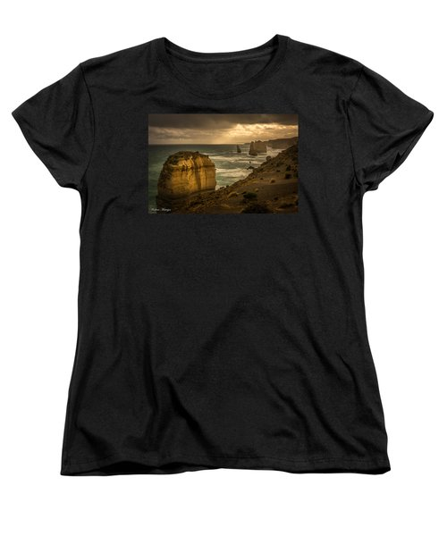 Women's T-Shirt (Standard Cut) featuring the photograph The Fire Sky by Andrew Matwijec