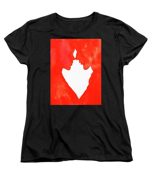 The Flame Of Love Women's T-Shirt (Standard Cut) by Iryna Goodall