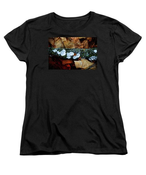 Women's T-Shirt (Standard Cut) featuring the photograph The Forest Floor - Cascade Wi by Mary Machare