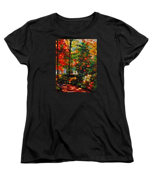 Women's T-Shirt (Standard Cut) featuring the painting The Garden by Emery Franklin