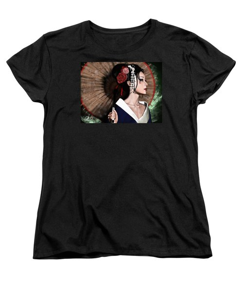 The Geisha Women's T-Shirt (Standard Cut) by Pete Tapang