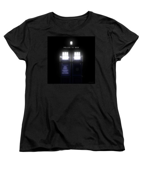 The Glass Police Box Women's T-Shirt (Standard Fit)