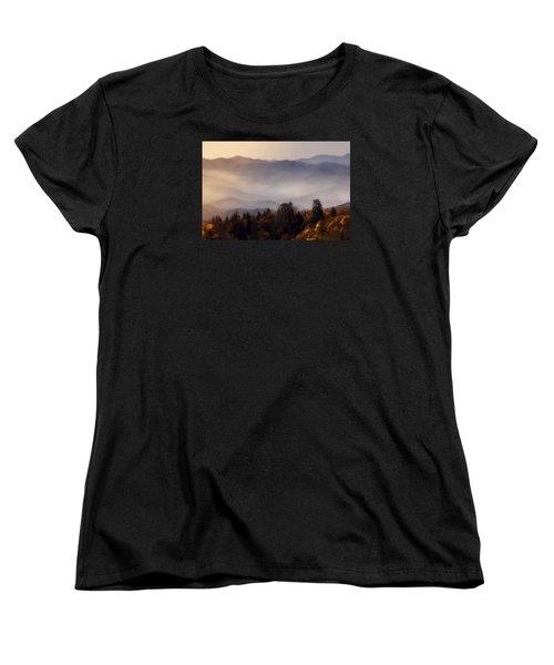 Women's T-Shirt (Standard Cut) featuring the photograph The Great Smoky Mountains by Ellen Heaverlo