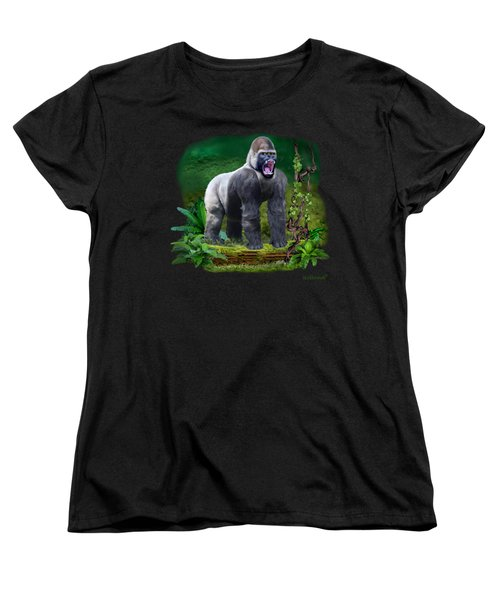 The Guardian Of The Rain Forest Women's T-Shirt (Standard Cut) by Glenn Holbrook
