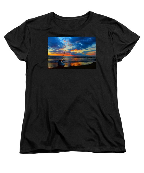 The Hawaiian Sailboat Women's T-Shirt (Standard Cut) by Michael Rucker
