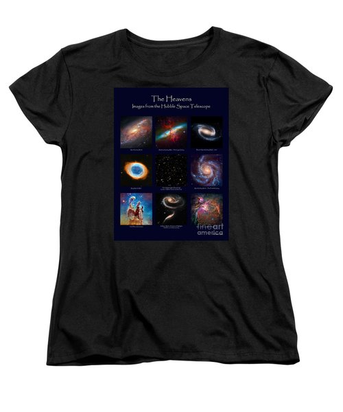The Heavens - Images From The Hubble Space Telescope Women's T-Shirt (Standard Cut) by David Perry Lawrence